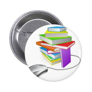 Ratón del ordenador de la pila de libro pin