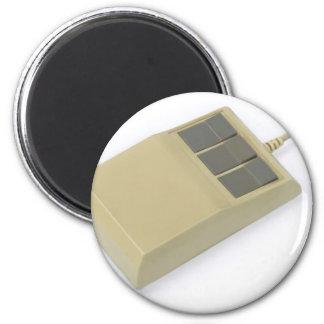 ratón del ordenador del viejo estilo imán redondo 5 cm
