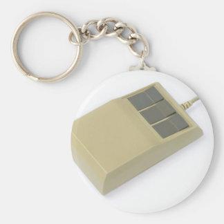 ratón del ordenador del viejo estilo llavero redondo tipo pin