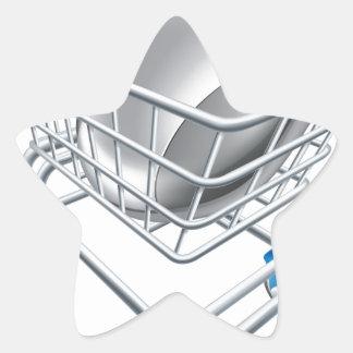 Ratón del ordenador en carretilla colcomanias forma de estrellaes personalizadas