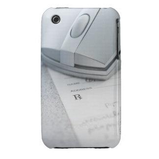 Ratón del ordenador en la prescripción escrita iPhone 3 Case-Mate protector