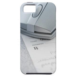 Ratón del ordenador en la prescripción escrita iPhone 5 cobertura