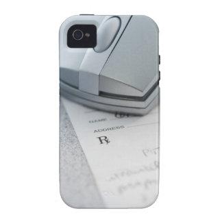 Ratón del ordenador en la prescripción escrita vibe iPhone 4 carcasa