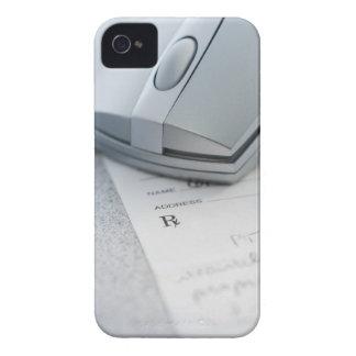 Ratón del ordenador en la prescripción escrita iPhone 4 Case-Mate cárcasas