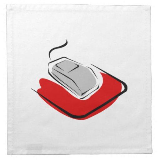 Ratón del ordenador servilletas imprimidas