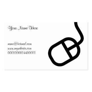 Ratón del ordenador, su nombre aquí, tarjetas de visita