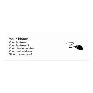 Ratón del ordenador tarjetas de visita mini