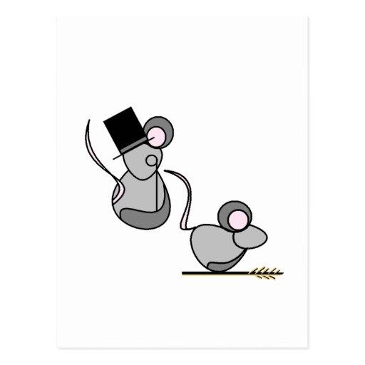 Ratón del país y ratón de la ciudad postal