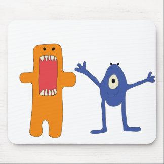 Ratón del par de monstruos - de Alfombrilla para Tapetes De Ratones