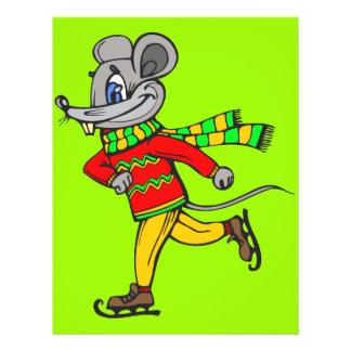 """Ratón del patinaje de hielo folleto 8.5"""" x 11"""""""