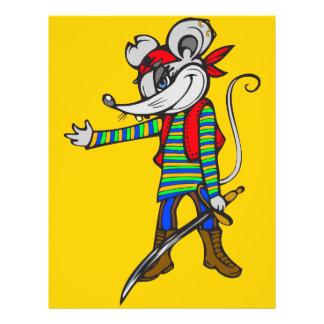 """Ratón del pirata folleto 8.5"""" x 11"""""""