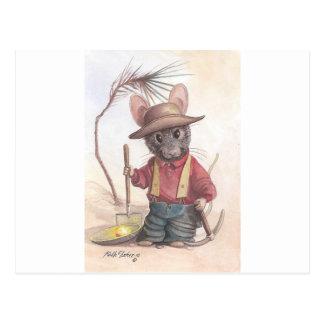 ratón del prospector tarjetas postales