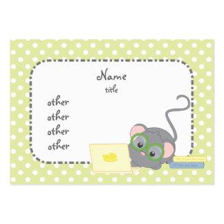 Ratón del sabelotodo tarjetas de visita grandes
