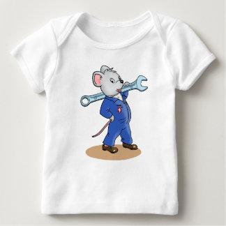 Ratón del trabajador - camiseta del bebé