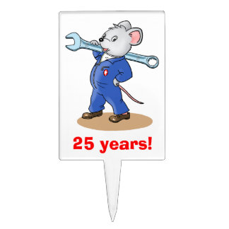 Ratón del trabajador - torta Pik Figuras De Tarta