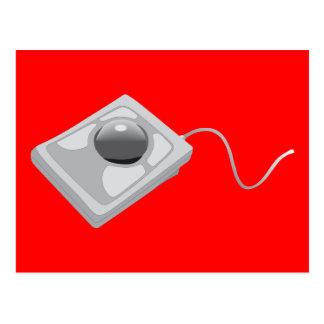 Ratón del Trackball - informática de la bola de pi Postal