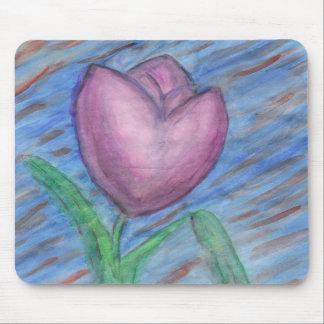 ratón del tulipán tapete de ratón