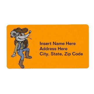 Ratón del vaquero etiqueta de envío