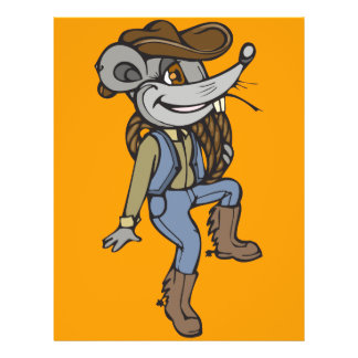 Ratón del vaquero tarjeton