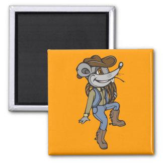 Ratón del vaquero imán cuadrado