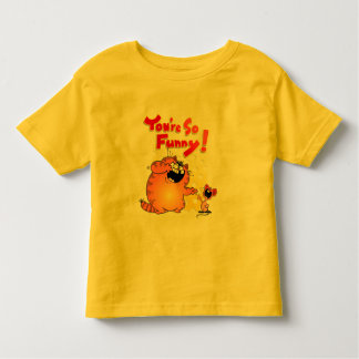Ratón divertido amarillo gordo divertido del camisas
