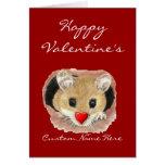 Ratón divertido conocido de encargo de la tarjeta