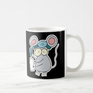ratón divertido del doctor taza básica blanca