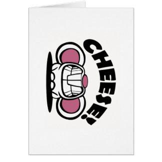Ratón divertido del queso tarjeta de felicitación