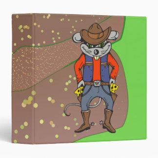 "Ratón divertido del vaquero carpeta 1 1/2"""