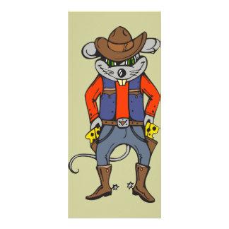 Ratón divertido del vaquero plantillas de lonas