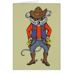 Ratón divertido del vaquero tarjeta pequeña