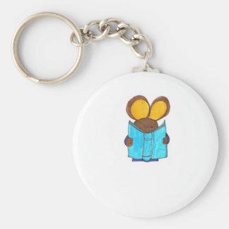 Ratón el gusano de libro llavero redondo tipo pin
