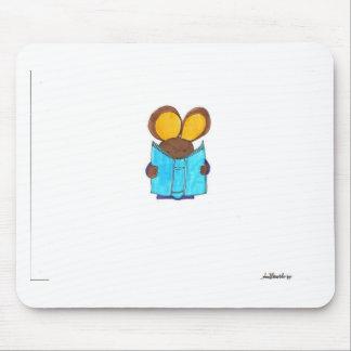 Ratón el gusano de libro mouse pads