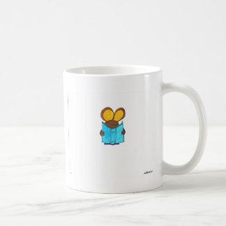 Ratón el gusano de libro tazas de café