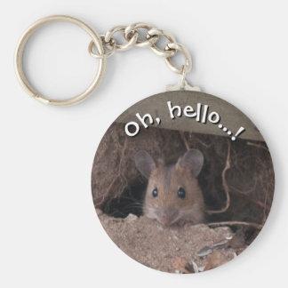 Ratón en agujero llavero redondo tipo pin