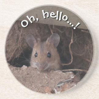 Ratón en agujero posavasos personalizados