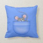 Ratón en bolsillo almohadas