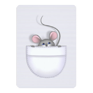 """Ratón en bolsillo invitación 5"""" x 7"""""""
