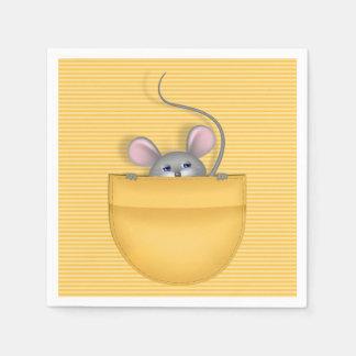 Ratón en bolsillo servilletas desechables