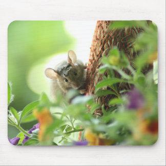 Ratón en flores tapetes de ratón