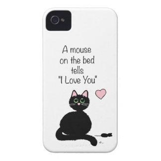 Ratón en la cama iPhone 4 Case-Mate protectores
