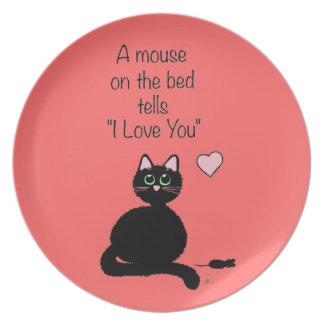 Ratón en la cama plato para fiesta