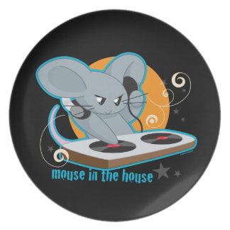 Ratón en la casa platos para fiestas