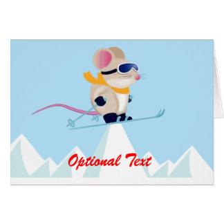 Ratón en las montañas - personalizable de la tarjeta de felicitación