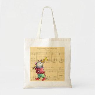 Ratón en partitura - bolso de la trompeta