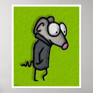 Ratón en un foso poster