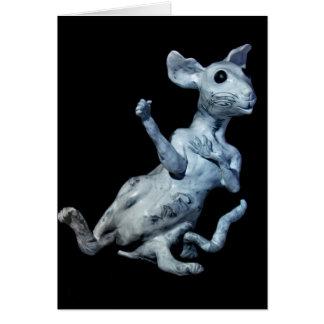 Ratón escocés tarjeta de felicitación