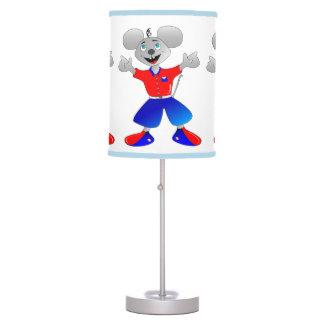 Ratón estupendo único y muy fresco del espacio lámpara de mesa