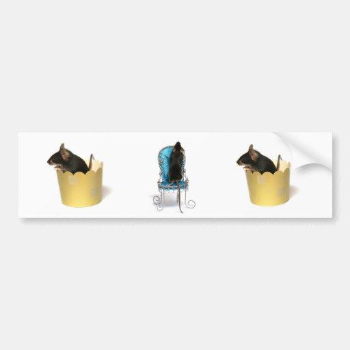 ratón etiqueta de parachoque