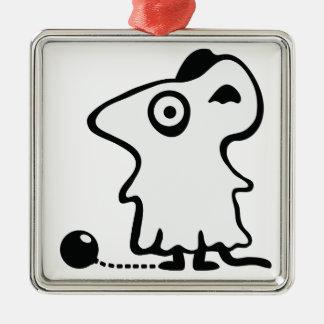 Ratón fantasma - Poltergeist Adorno Navideño Cuadrado De Metal